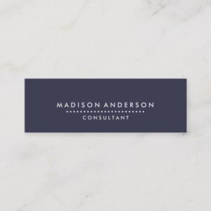 Professional Elegant Modern Blue Chalk Board Mini Business Card
