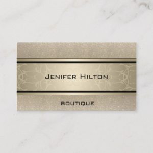 Professional elegant modern luxury glittery business card