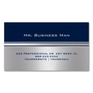Professional Elegant Modern Personalized Magnetic Business Card