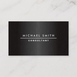 Professional Elegant Modern Plain Metal Black Business Card