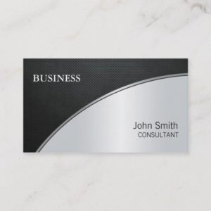 Professional Elegant Modern Silver Computer Repair Business Card