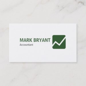 Professional Elegant Modern White Simple Business Card