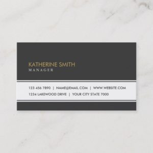 Professional Elegant Plain Simple Black Groupon Business Card