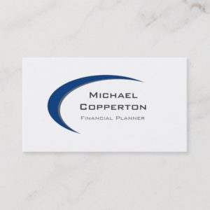 Professional Logo Business Card Blue Curve