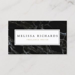 Professional Luxe Black Marble Business Card