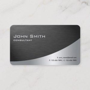 Professional Metal Elegant Modern Simple Black Business Card
