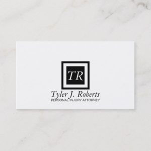 Professional Modern Black & White Attorney Lawyer Business Card