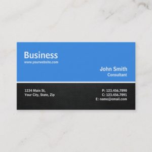Professional Modern Computer Repair Blue Plain Business Card