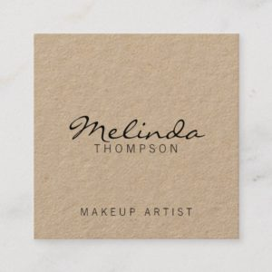 Professional Modern Kraft Paper Square Business Card