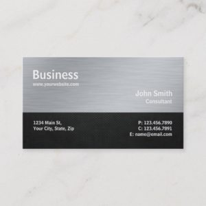 Professional Modern Metal Computer Repair Silver Business Card