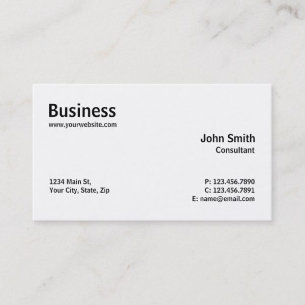 Professional Modern Plain Simple Computer Repair Business Card