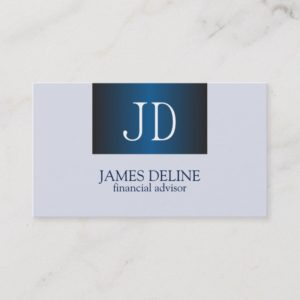 Professional Monogram Financial Business Card