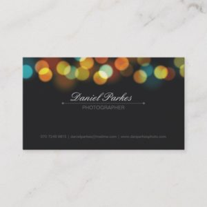 Professional Photographer Business Card