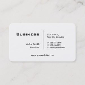 Professional Plain Elegant Modern Rounded Corners Business Card