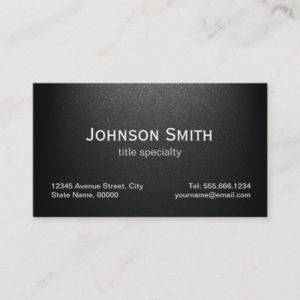 Professional Plain Matte Black - Simple Stylish Business Card