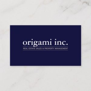PROFESSIONAL plain modern simple smart navy blue Business Card