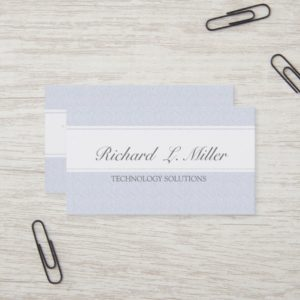 Professional Plain Simple Minimal Company Tech Business Card