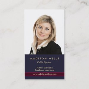 Professional Portrait Photo Business Card