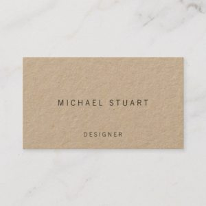 Professional Simple Minimalist Kraft Paper Business Card