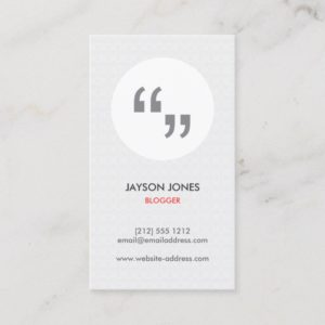 QUOTATION MARKS Business Card for Writers, Authors