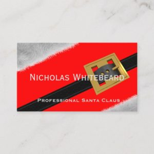 Red Professional Santa Claus Custom Business Cards