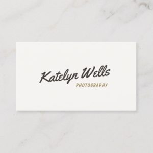 Retro Vintage Handwritten Script Typography Business Card