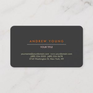 Rounded Corner Gray Professional Business Card