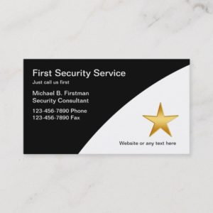 Security Service Business Cards