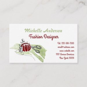 Sewing and fashion business card