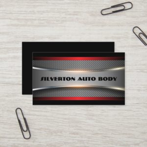 Shiny Silver, Chrome Look Business Card