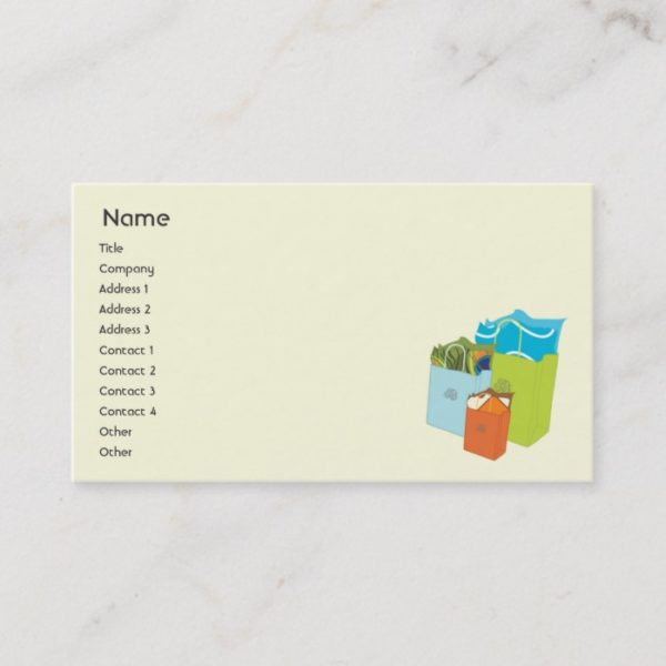 Shopping Bags - Business Business Card