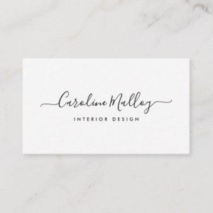 Signature Script Business Card