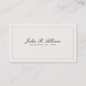 Simple and Elegant Attorney Ivory Professional Business Card
