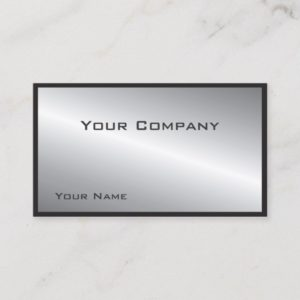 Simple Bordered Silver  Corporate  Business Card