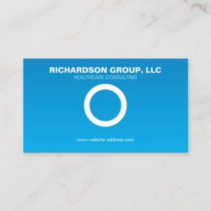 SIMPLE CIRCLE on BLUE GRADIENT Business Card