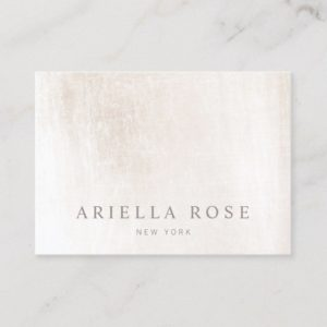 Simple Elegant Brushed White Marble Professional Business Card