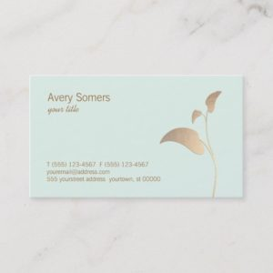 Simple Elegant Gold Leaf Business Card