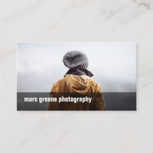 Simple Freelance Photographer Photography Photo Business Card