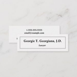 Simple, Light, Clean & Professional Business Card