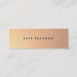 Simple Modern Faux Gold Beauty Salon Mini Business Card