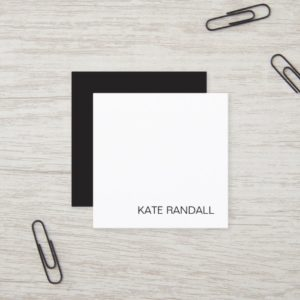 Simple Modern White Professional Networking Square Square Business Card
