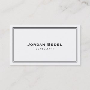 Simple Professional Elegant White Business Card
