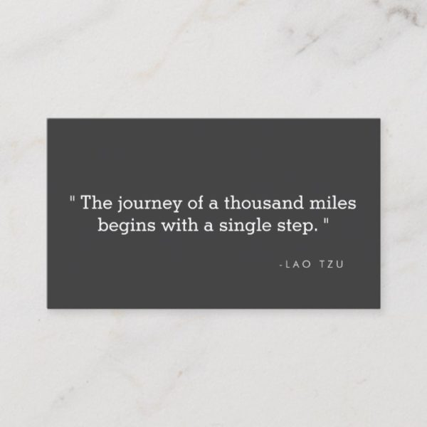 Simple Quote Business Card for Authors, Writers II