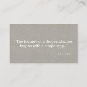 Simple Quote on Linen Authors, Writers Business Card