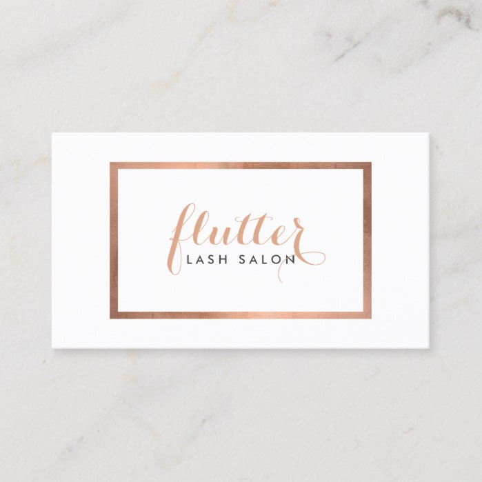 Simple Rose Gold Logo Lash Extensions