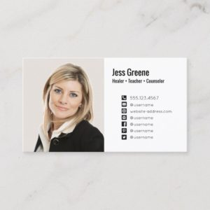 Simple Social Media Icon Photo Image Profile Business Card