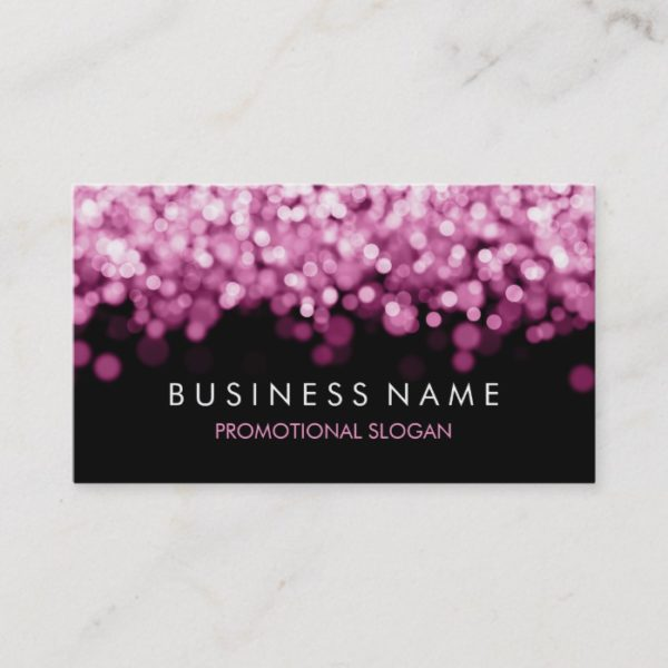 Simple Sparkle Pink Lights Business Card