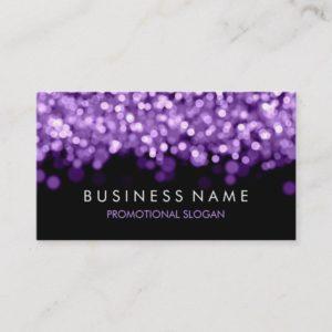 Simple Sparkle Purple Lights Business Card