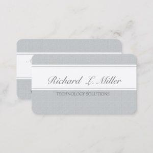 Software Consultant  Tech Two Bands Unique Plain Business Card