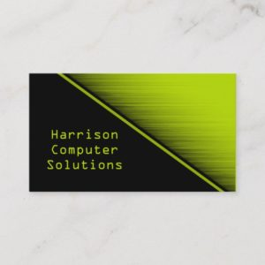 Speed Texture Business Card, Neon Green Business Card